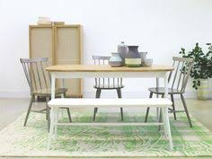 cream compact extending dining table: talia  seat oak dining table