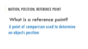 let s review speed velocity acceleration motion position motion position reference point what is a reference point