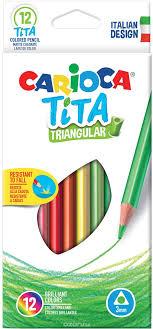 <b>Carioca Набор цветных карандашей</b> Tita 12 цветов трехгранные ...