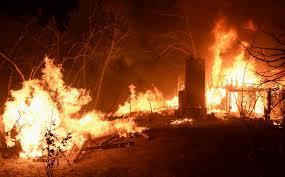 firefighters battle powerhouse fire in california
