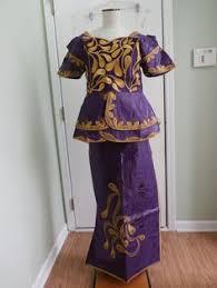 NEW <b>African</b> Women purple gold Skirt Suit <b>Dashiki</b> traditional <b>Attire</b> ...