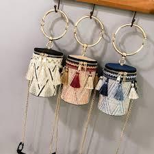 Online Shop 2018 Summer <b>Straw Bags Rattan</b> Woven Beach ...