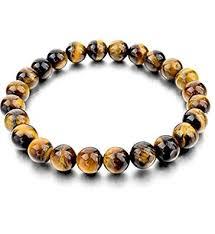 DHYANARSH 8mm Certified <b>Natural Tiger Eye Stone</b> Beads ...