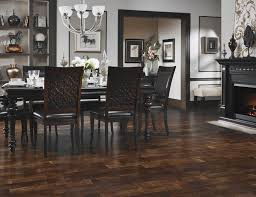 modern dining room installed on dark wood flooring and furnished with glorious chairs wooden table wakecares black wood dining room