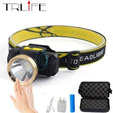 Sensor <b>LED HeadLamp Outdoor Camping</b> Inductive Flashlight Head ...