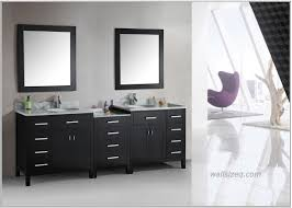 bathroom black vanity double