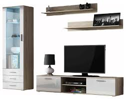 Furniture vidaXL <b>TV Wall Unit Set</b> 5 Piece Entertainment Centre ...
