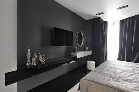 interior design wonderful black and white living room decoration with arch lamp and floral floor motif black white bedroom interior