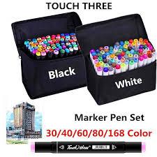 AICRANE <b>Touchfive 30/40/60/80</b>/<b>168Colors</b> Twin Tip <b>Pen Marker</b> ...
