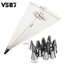 online get cheap writing decorations com alibaba group 16 nozzles tips amp icing writing bag cake decorating piping sugarcraft pastry set bakeware cake