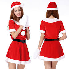 <b>Hot Sale 1 Set</b> Sexy Women Santa Claus Christmas Costume Party