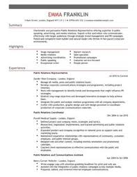 public relations cv example for marketing   livecareer    are  able as adobe pdf  ms word doc  rich text  plain text  and web page html formats  click to enlarge image livecareer cv example directory
