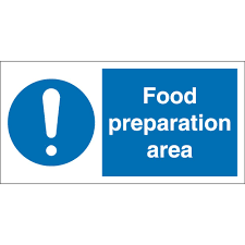 food preparation area signs from key signs uk food preparation area signs