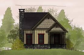 Small Cottage Floor Plan   loft   Small Cottage DesignsNantahala Cottage plan small