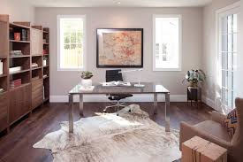 cow hide rugs home office contemporary with armchair art bookcase desk metal desk mid century modern animal hide rugs home office traditional