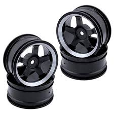 "4PCS 1.02"" RC <b>Aluminum Alloy</b> Wheels 12mm Hex Hub <b>Diameter</b> ..."