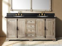 dual vanity bathroom: rustic bathrooms farmhouse vanity  inch driftwood grey double sink vanity bathroom vanities