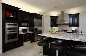 floors high gloss black cupboards gorgeous kitchen