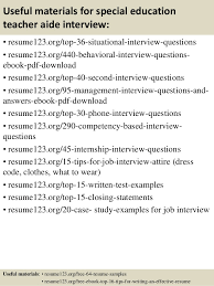 top  special education teacher aide resume samples       useful materials for special education teacher
