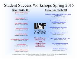 student success workshops 201501 jpg the academic advising center offers a large number of workshops designed to promote study and university skills important to student success