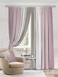 <b>Комплект штор Томдом Берни</b> 320х440см, фиолетовый, розовый ...