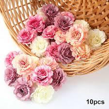 <b>10pcs</b>/<b>Set Artificial Floral</b> Heads Silk Fake Peony Flowers Wedding ...