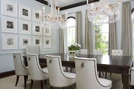 modern classic dining room furniture white leather luxury design ideas with antique crystal lighting hanging unique wall decor best neutral wall painting chic crystal hanging chandelier furniture hanging