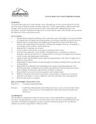 credit union resume examples resume examples  sample