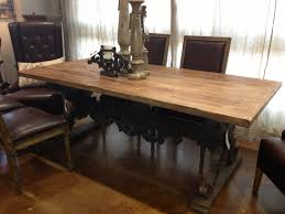 reclaimed wood dining room table leaves long rustic dining room table trestle dining table with leaf for