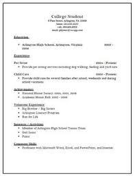 college resume template high school senior sample college resume     Resume and Resume Templates Sample College Admission Resume Template