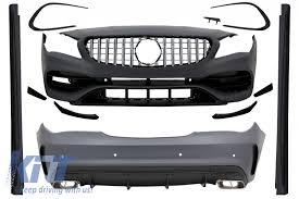 front bumper lower lip splitter for <b>mercedes benz cla class</b> w117 ...