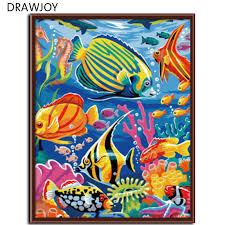 RUOPOTY Frame <b>Abstract</b> Frog <b>DIY</b> Painting By <b>Numbers</b> Kits ...