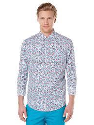 <b>100</b>% Genuine Men Long sleeves - <b>Original</b> Penguin Floral Poplin ...