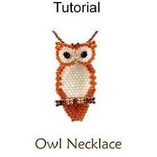<b>Seed Bead</b> Owl <b>Necklace</b> by AmaltheaCph | войлок фетр ткань ...