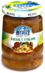 Фасоль с грибами <b>Меленъ</b>, <b>580</b> г — купить в интернет-магазине ...