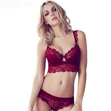 sexy mousse women bra set ultra thin red black lace bras underwear push up and panties cup a b c d