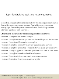 fundraiser cover letter undergraduate resume template staff nurse top8fundraisingassistantresumesamples 150507081657 lva1 app6891 thumbnail 4 top 8 fundraising assistant resume samples fundraiser cover letter
