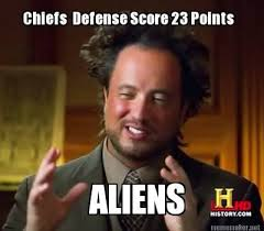 Kansas City Chiefs Aliens Meme | Daily Fantasy Football Site via Relatably.com