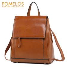 <b>POMELOS</b> Genuine Leather <b>Backpack Women</b> High Quality Urban ...