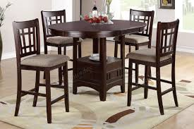Tall Dining Room Chairs Bar Height Table And Chairs Outdoor Brown Polished Teak Pub Table