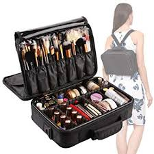 VASKER Large <b>Makeup</b> Case 3 Layers <b>Makeup</b> Bag <b>Organizer</b>