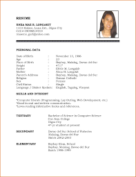 example resume sample resume format template example resume resume templates template word english example resume template word english