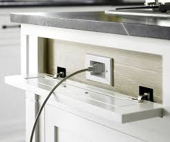 outlet kitchen island outfitting the kitchen island with hidden outlets means appliances can