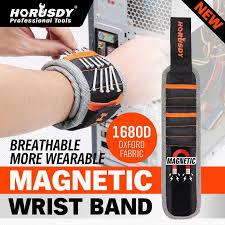 HORUSDY <b>Magnetic Wristband</b> Portable Tool Bag <b>Polyester</b> Pocket ...