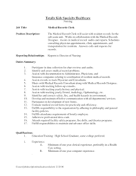 best photos of records clerk resume medical job description cover cover letter best photos of records clerk resume medical job descriptionmedical records job duties