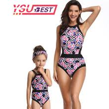 2019 New Family Match <b>Swimwear Mother</b> and <b>Daughter</b> Lady Kid ...