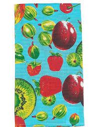 """Набор кухонных <b>полотенец Letto</b> """"Фрукты и ягоды"""", цвет: синий ..."""