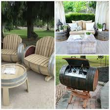 wine barrel outdoor furniture wine barrel patio furniture arched napa valley wine barrel