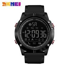 Skmei Bluetooth <b>Men Smart Sports Watch</b> Sms Remind Calorie 50m ...
