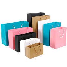 <b>10pcs</b> Gift Paper Bag Custom Gift Clothing Shopping Bag <b>Kraft</b> ...
